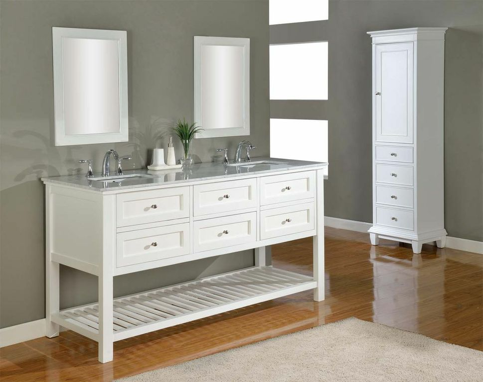 white double vanity for your remodel